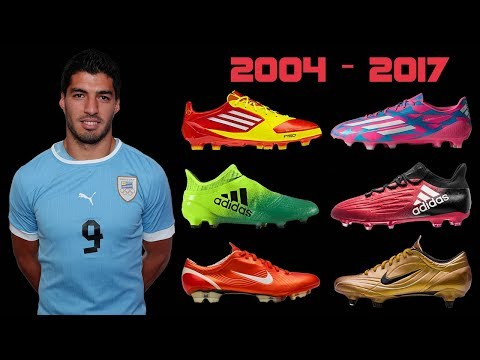 The Evolution of Luis Suarez's Boots II 2004 - 2017 II