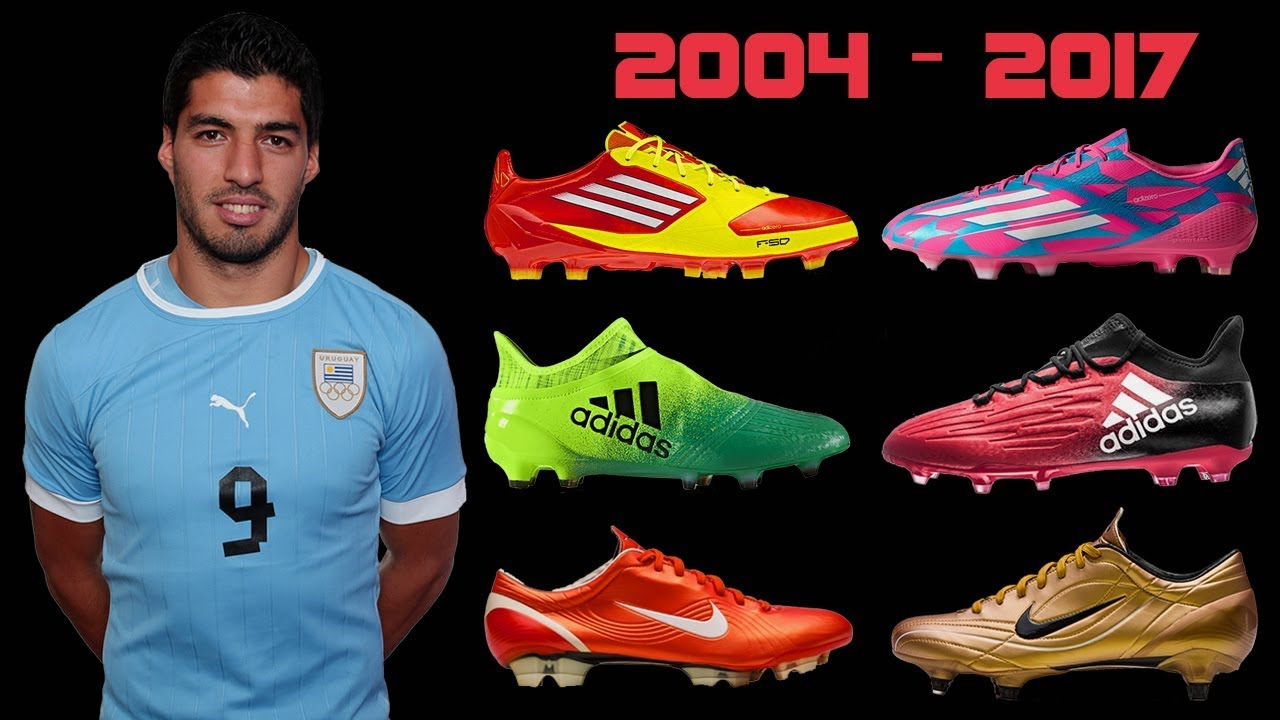 The Evolution of Luis Suarez s Boots II 2004 - 2017 II - YouTube ebe9a127ec5