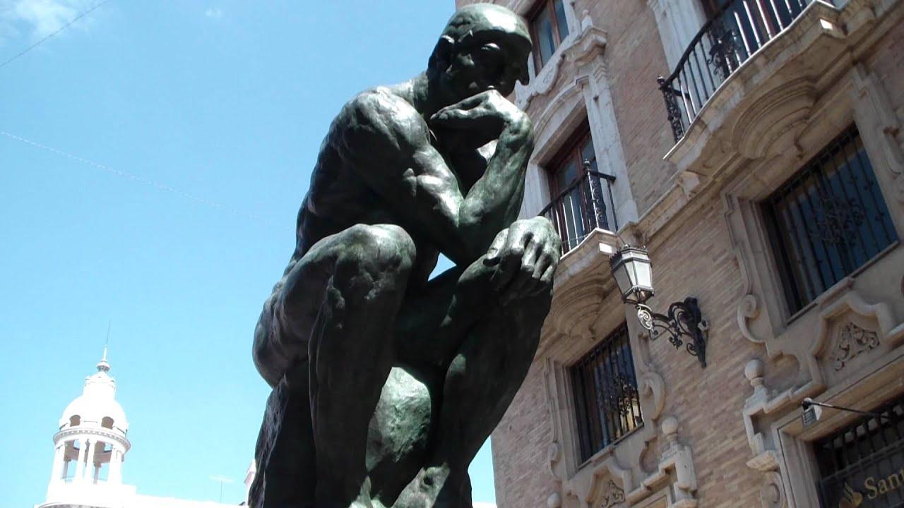 El pensador de Rodin en Murcia - YouTube
