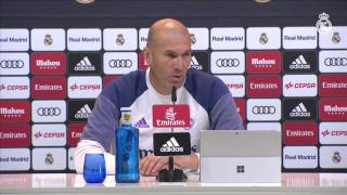 """Zidane: """"Tenemos que seguir con nuestra idea y dar la vuelta a la situación"""""""