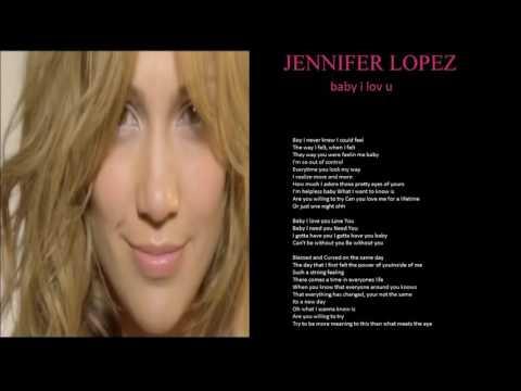 jennifer lopez baby i love u + lyrics