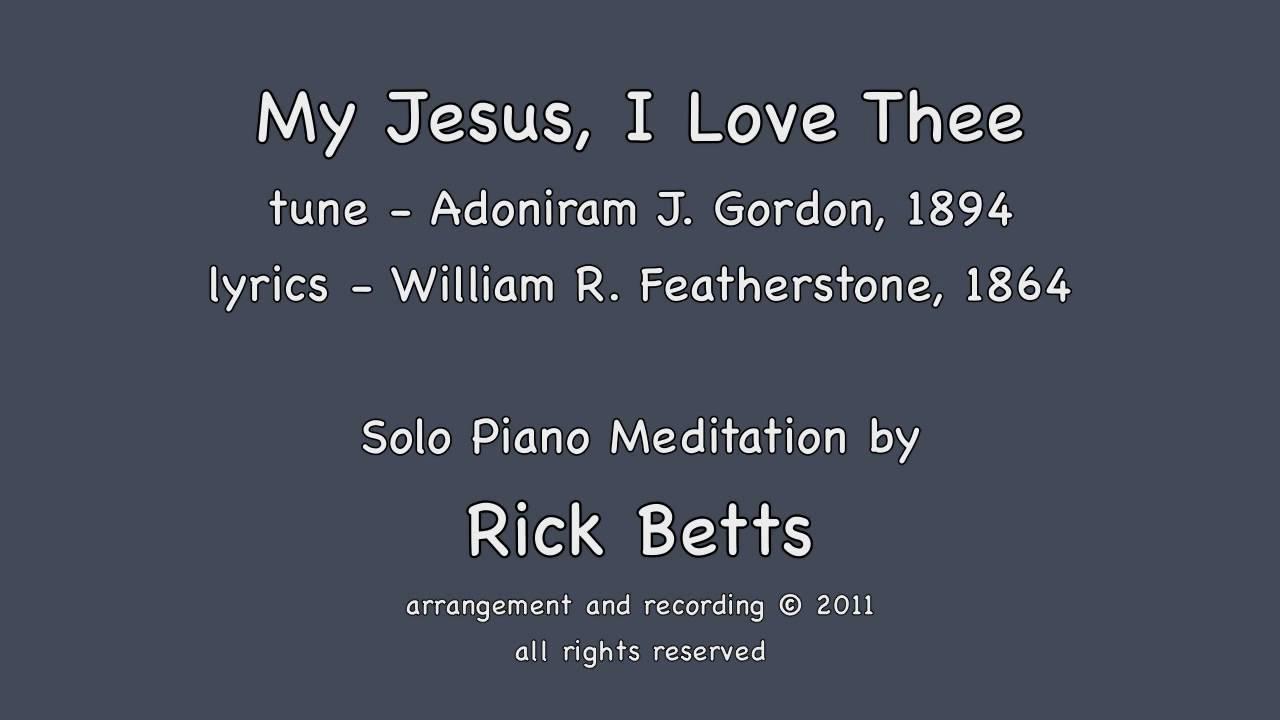 my jesus my saviour piano sheet music pdf