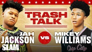 Mikey Williams vs. Jahzare Jackson CRAZY Trash Talk! WHO YOU GOT?! 🗣 | SLAM Originals