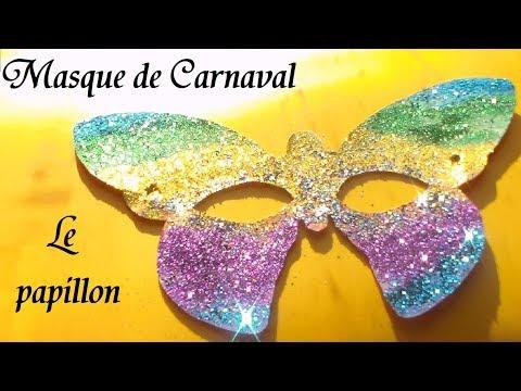 Masque de papillon fabrication masque d animaux pour carnaval youtube - Masque papillon carnaval ...
