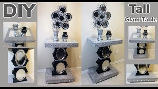 Dollar Tree DIY Glam Tall End Table Under $20 2019
