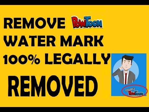 Remove Powtoon Logo