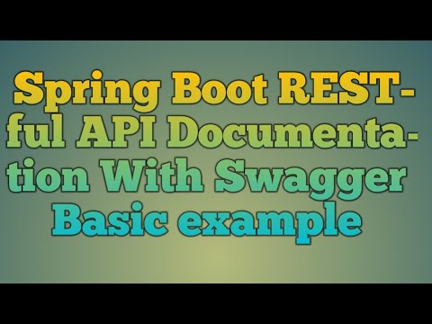 116.Spring Boot RESTful API Documentation With Swagger Basic Example