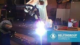 Сварочный робот для производства гидроподъемников(Специалисты Белфингрупп, внедрили универсальный роботизированный комплекс, предназначенный для автомати..., 2014-08-29T08:17:37.000Z)