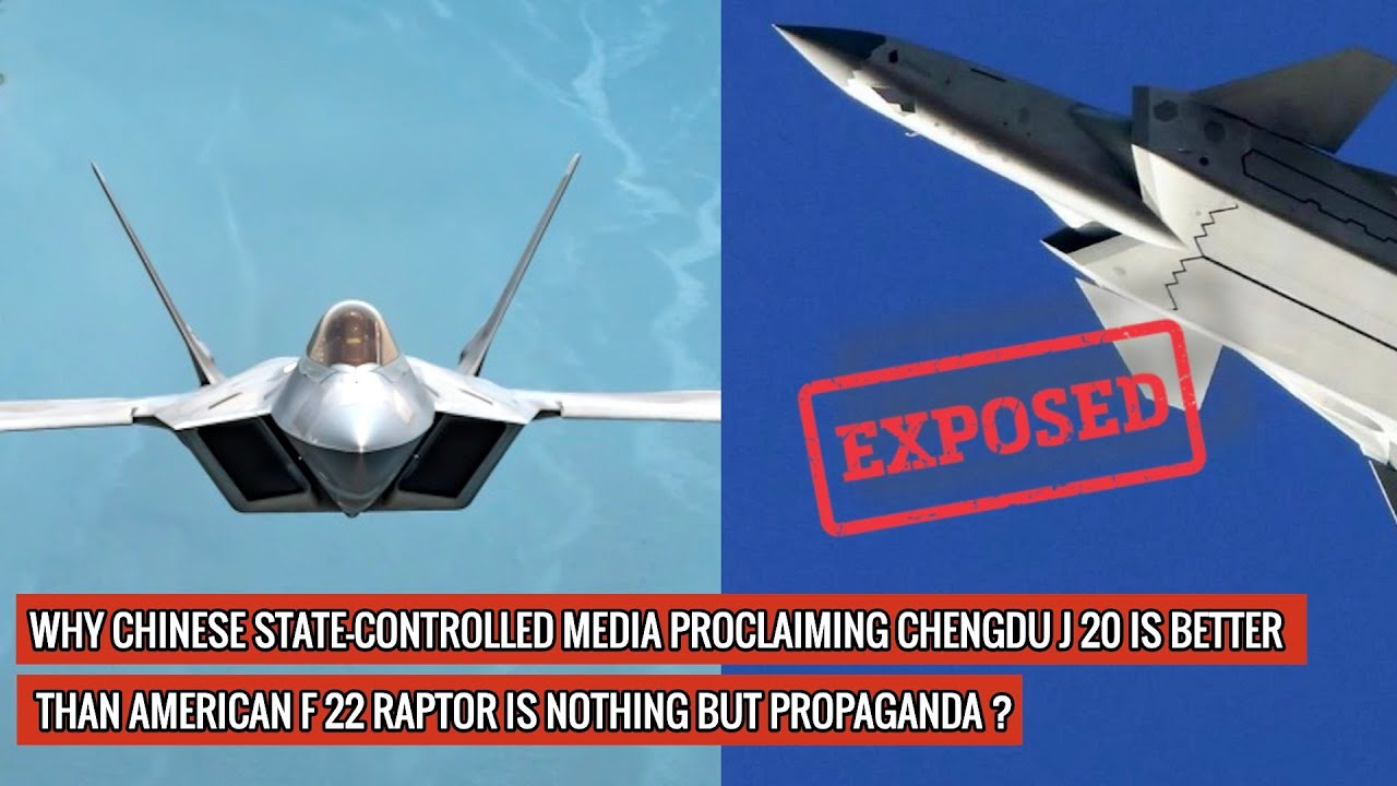 CHINESE CHENGDU J 20 IS NOTHING IN FRONT OF AMERICAN F 22 RAPTOR - 3 UNBIASED TECHNICAL REASONS !