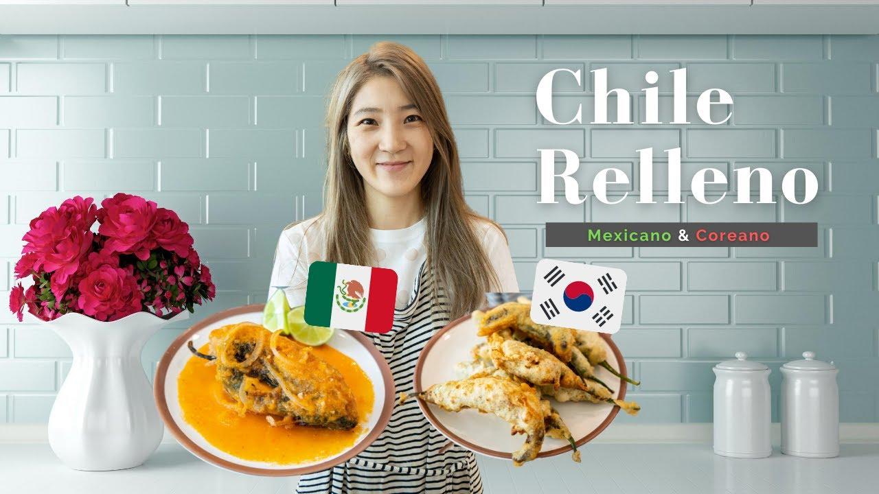 Chiles Rellenos Mexicano & CoreanoㅣGracias Sra Janet (Jauja)^^ㅣCoreanas en Mexico
