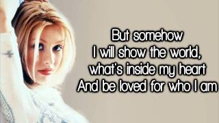 Christina Aguilera - Reflection (Lyrics) HD
