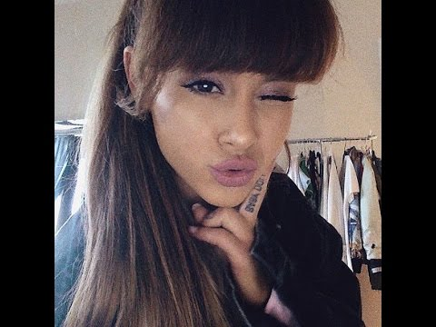 Ariana Grande With Bangs (Fringe) Video Compilation