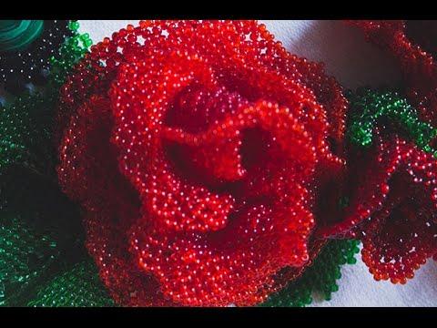 Мозаичное плетение из бисера роза мастер класс