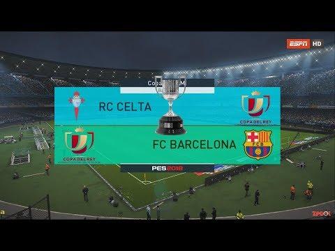CELTA DE VIGO VS BARCELONA | COPA DEL REY PES 2018 | OPTION FILE Real-life broadcast camera