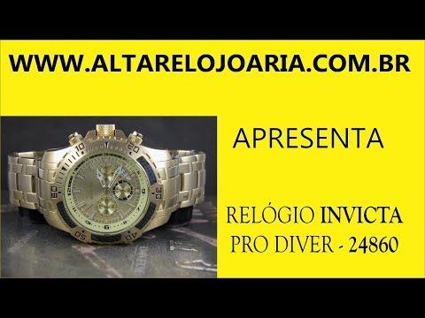 Relógio Invicta Pro Diver Cronografo Plaque Ouro 24860