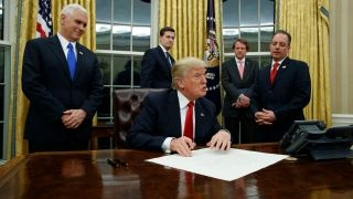 Trump puts pen to work signing executive orders