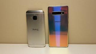 Samsung Galaxy S10+ vs. HTC One M9 - Size Comparison!