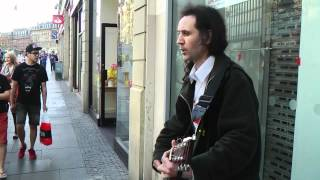 Ian Whitehead - A Lucky Man (by The Verve) - Sheffield busker
