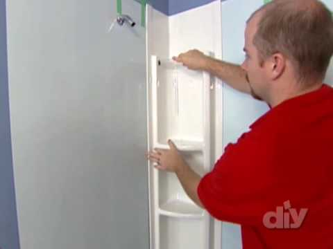 Installing a Tub Surround-DIY - YouTube