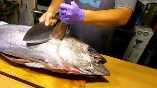 Yellowfin Tuna Cutting and Cuisine - Taiwanese Street Food