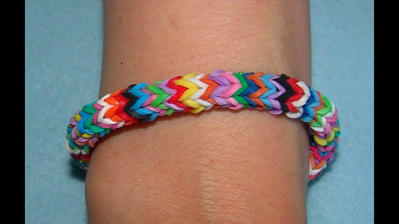 Плетение браслетов из резинок без рогатки