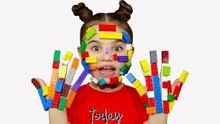 Pretend play LEGO HANDS - 동요와 아이 노래 | 어린이 교육 | Polina Fun