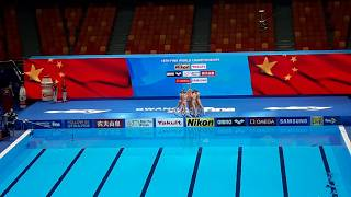 [FINA2019]Artistic Swimming Team Technical Final-China (Silver medal!!!)