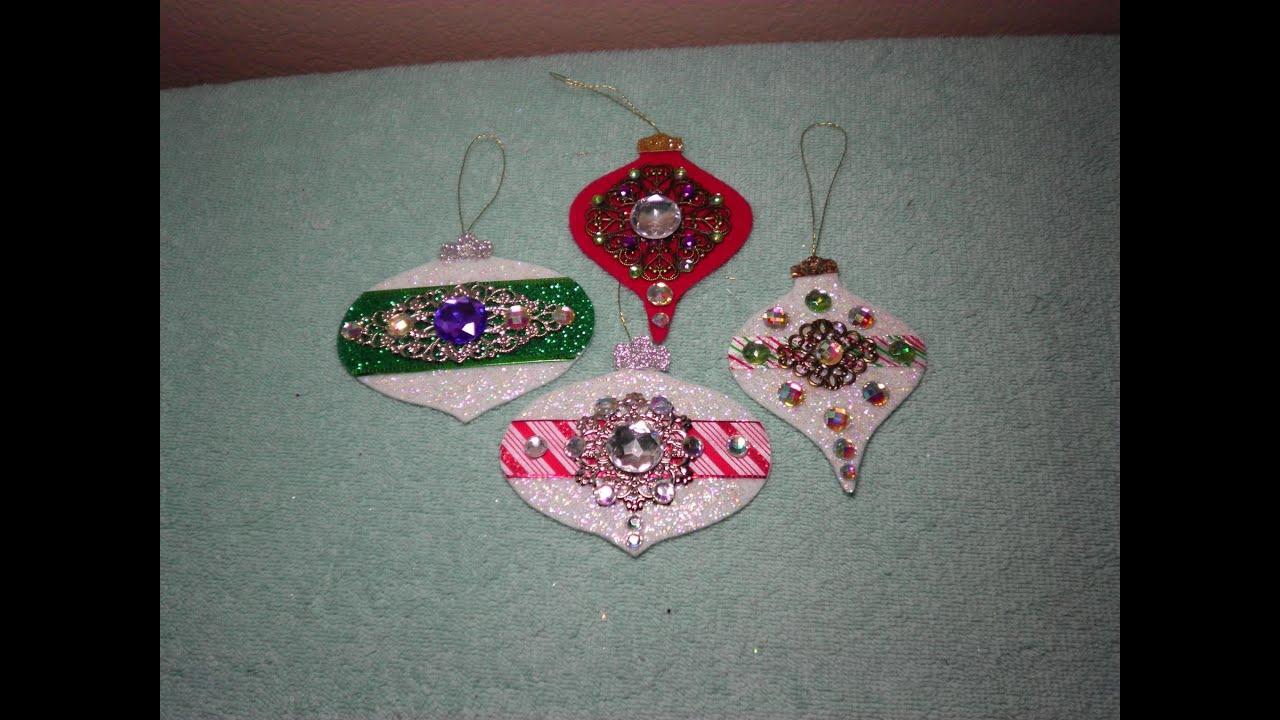 Diy Gorgeous Embellished Felt Christmas Ornaments Easy Youtube