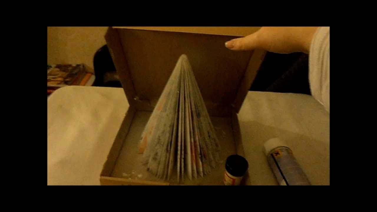 Decoration de noel en papier recycl Deco recyclage recuperation