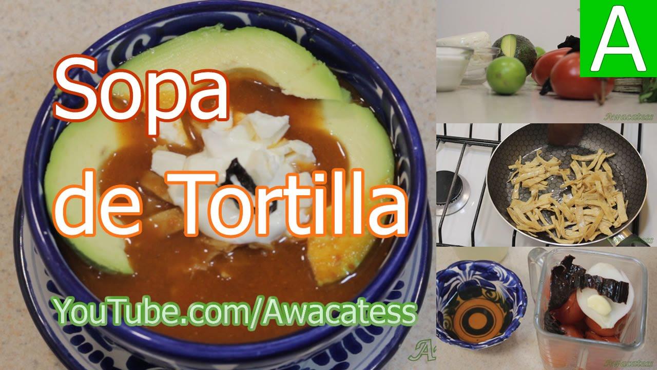 Sopa de tortilla azteca recetas de comidas mexicanas for Cocina casera facil y economica