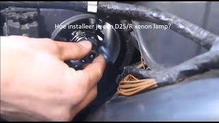 Een originele xenon lamp installeren D2S/R xenon lamp?