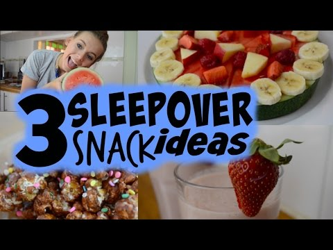 3 QUICK & EASY SLEEPOVER SNACK IDEAS! - YouTube