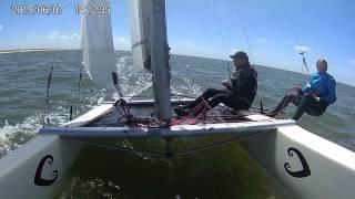 catamaranzeilen Egmond aan zee!