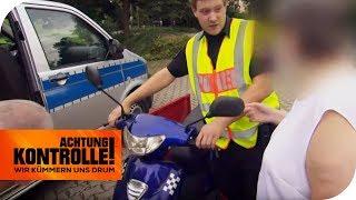 Roller zu schnell & keinen Führerschein! Polizei stoppt ältere Dame | Achtung Kontrolle | kabel eins