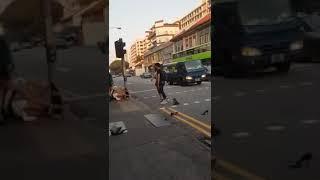 Night Club Sexy Ladies Fighting beside traffic light at Geylang