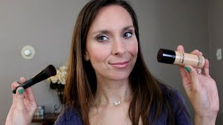New! Bare Minerals Bare Skin Liquid Foundation Review / Tutorial Pure Brightening Serum Foundation