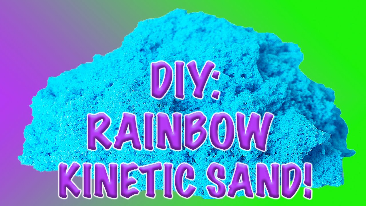 diy how to make homemade glittery colorful kinetic sand youtube. Black Bedroom Furniture Sets. Home Design Ideas