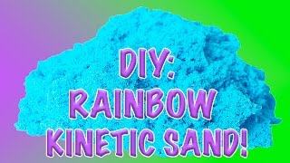 DIY: How to Make Homemade Glittery & Colorful Kinetic Sand!