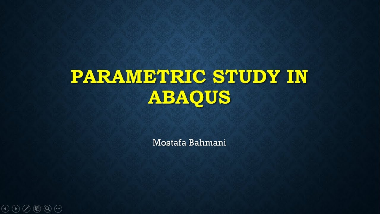 Parametric Study in ABAQUS - first video - YouTube