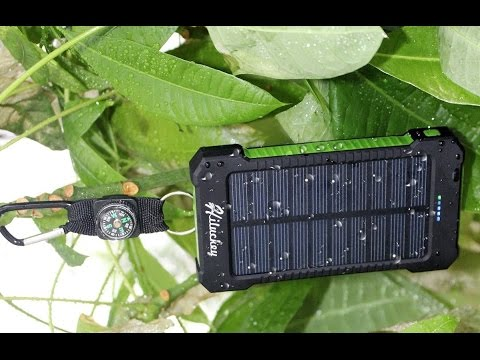 Hiluckey Solar Power Bank 10000mah Unboxing & First Look At Free Energy