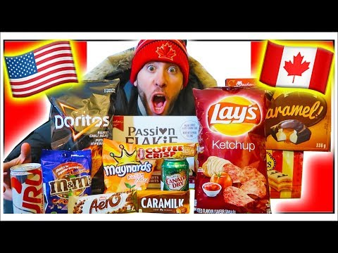 AMERICANS TRY CANADIAN SNACKS FOR THE FIRST TIME (KETCHUP CHIPS?!)