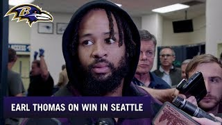 Earl Thomas III Reacts to Winning in Seattle | Baltimore Ravens