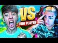 1 VS 1 CONTRA UN JUGADOR PROFESIONAL de FORTNITE: Battle Royale!! - Agustin51