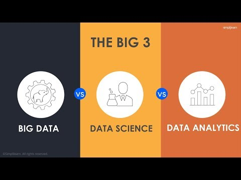 Data Science vs Big Data vs Data Analytics | Simplilearn