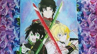 Speed Drawing: Owari No Seraph (Yuu, Mika y Guren)