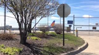 Allegiant a319 landing,push back,takeoff at the Quad City airport