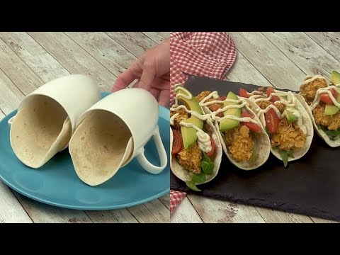 Tacos cup the original way to prepare and alternative dinner