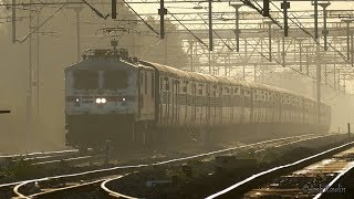Vaigai Express speeds out of Madurai to Chennai (WAP7 30475). In 4K UHD.