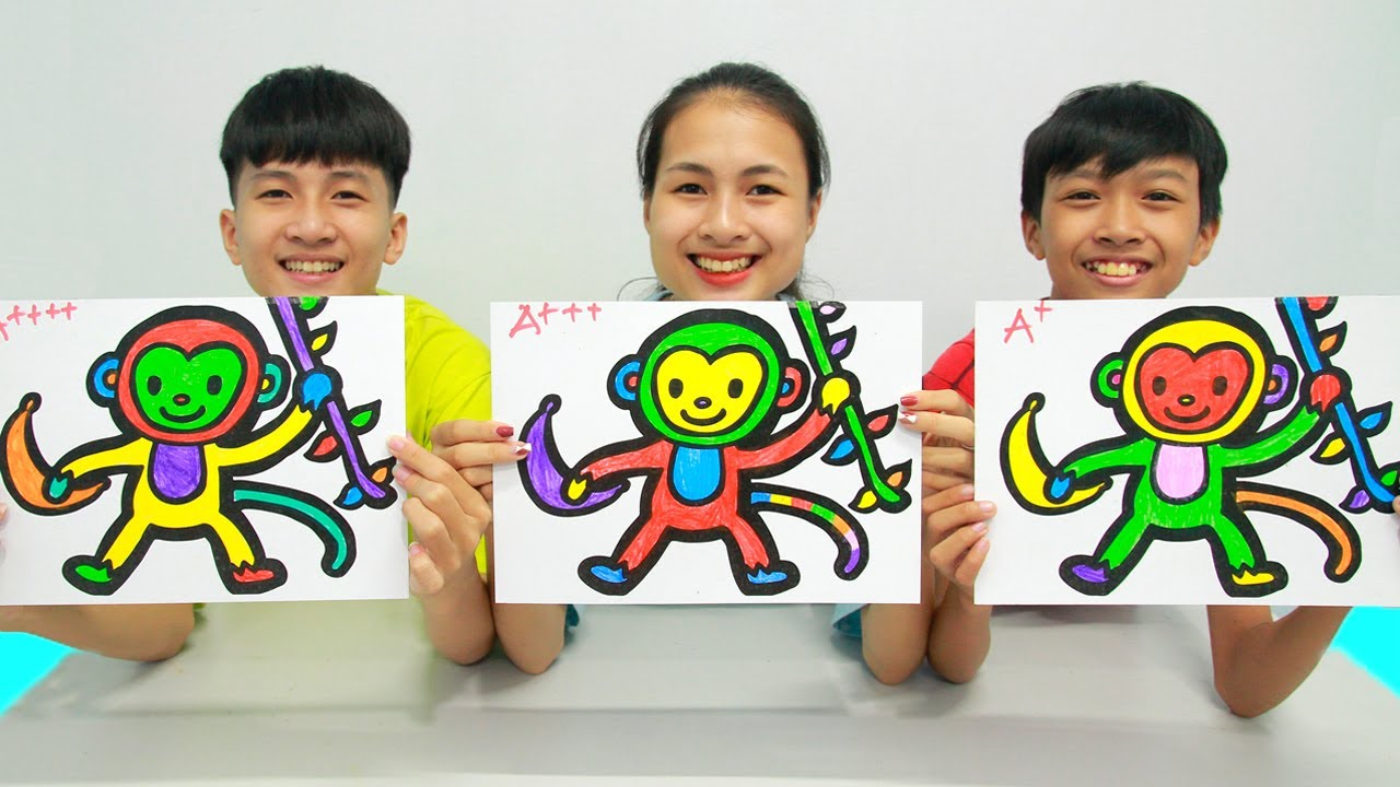 Glitter Monkey, Warna Warni Belajar Menggambar dan Mewarnai untuk Anak