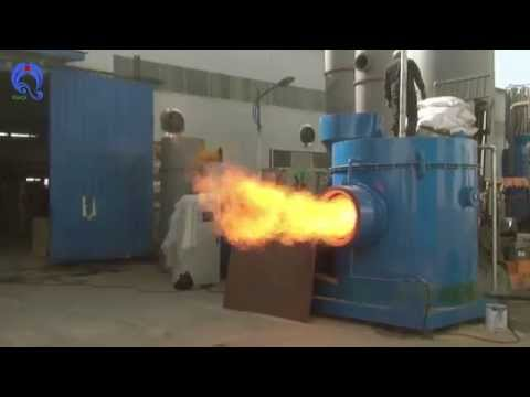 10 ton biomass wood pellet burner testing before delivery to Qingdao